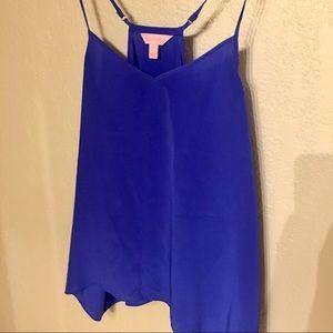 Lilly Pulitzer Dusk Silk Tank - Blue